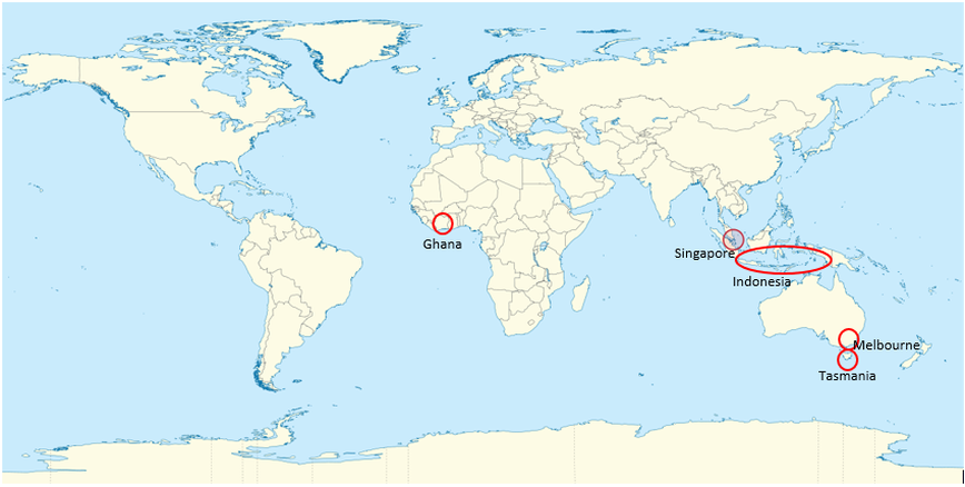 The locations of cadbury production cadbury australia world map of cadbury locations to make australian cadbury chocolate source wikimedia image by unknown gumiabroncs Images